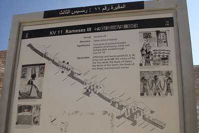 A map into the the tombs of Rameses III - Valley of the Kings, Egypt ... November 23, 2006 ... Photo by Emily Conger
