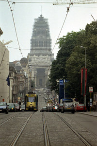 The tower of the Brussels Courts of Justice. ... June 27, 2001 ... Photo by Rob Page III