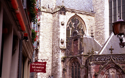 A nice church, but notce that it is behind the Prostitution Information Centre - Amsterdam, Netherlands. ... June 28, 2001 ... Photo by Rob Page III