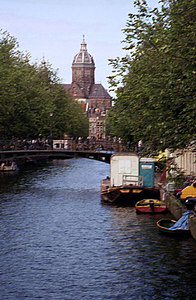 One of the canals in Amsterdam, Netherlands. ... June 28, 2001 ... Photo by Rob Page III
