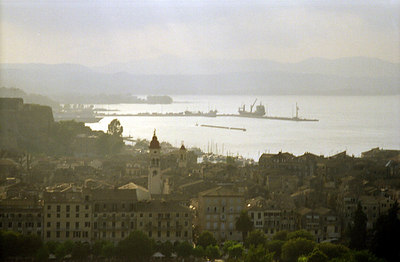 The port of Corfu, a majoring stopping off point between Greece and Italy - Corfu, Greece ... July 17, 2001 ... Photo by Rob Page III