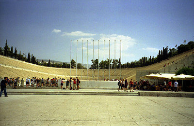 The Kali-Marmaro.  This is the original Olympic Stadium and holds 60,000 - Athens, Greece ... July 18, 2001 ... Photo by Rob Page III