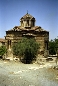 A small Greek church - Athens, Greece ... July 18, 2001 ... Photo by Rob Page III