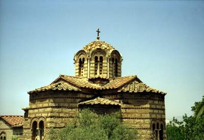 A small Greek church in the Agora area - Athens, greece ... July 18, 2001 ... Photo by Rob Page III