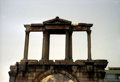 Unknown ruins near the Acropolis - Athnes, Greece ... July 18, 2001 ... Photo by Rob Page III