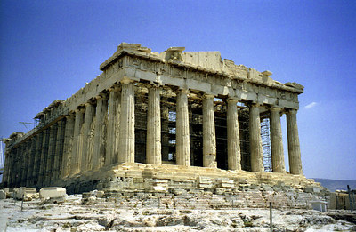 The Parthenon at the Acropolis - Athens, Greece ... July 18, 2001 ... Photo by Rob Page III