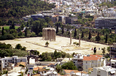 Unknown ruins below the Acropolis - Athens, Greece ... July 18, 2001 ... Photo by Rob Page III