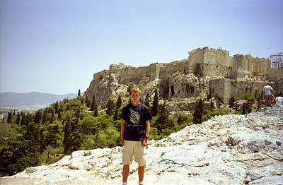 Rob at the Acropolis - Athens, Greece ... July 18, 2001 ... Photo by unknown tourist
