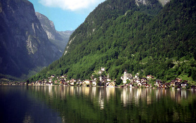 The town of Hallstatt, Austria.  It is a UNESCO World Heritage Site. ... June 30, 2001 ... Photo by Rob Page III