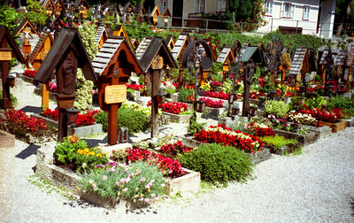 The cemetary in Hallstatt, Austria. ... June 30, 2001 ... Photo by Rob Page III