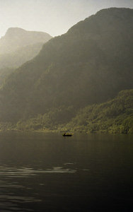 A lone boat on a lake in Austria. ... June 30, 2001 ... Photo by Rob Page III