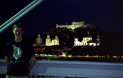 Rob with the city of Salzburg in the background. ... June 30, 2001 ... Photo by Rob Page III