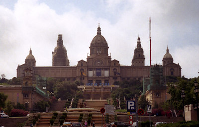 The Palau Nacional building on Montjuïc Mountain - Barcelona, Spain. ... July 5, 2001 ... Photo by Rob Page III