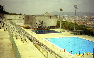 The swimming pool used for the 1992 Olympics - Barcelona, Spain ... July 5, 2001 ... Photo by Rob Page III