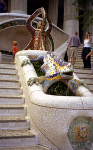 Antonio Gaudi Park - Barcelona, Spain. ... July 5, 2001 ... Photo by Rob Page III