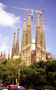 La Sagrada Familia, Barcelona. ... July 5, 2001 ... Photo by Rob Page III