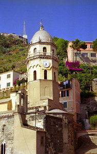 Vernazza, Cinque Terre - Italy. ... July 10, 2001 ... Photo by Rob Page III