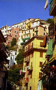 Manarola, Cinque Terre - Italy. ... July 9, 2001 ... Photo by Rob Page III