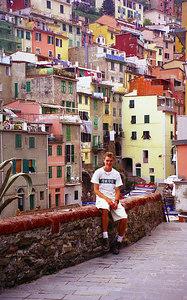 Rob and Riomaggiore, Cinque Terre - Italy. ... July 10, 2001 ... Photo by unknown