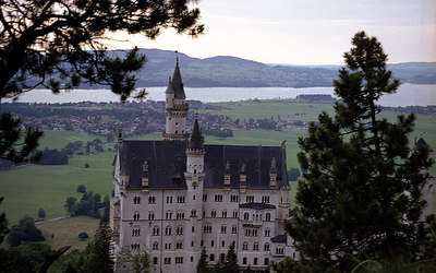 Neuschwanstein.  Germany's fairytail castle in Fussen, Germany built by King Ludwig. ... July 1, 2001 ... Photo by Rob Page III
