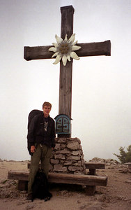 Rob at the top of Eagle's Nest. ... July 1, 2001 ... Photo by unknown