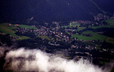 The town of Berchtesgaden from Eagle's Nest. ... July 1, 2001 ... Photo by Rob Page III