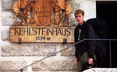Rob at Kehlsteinhaus where Hitler vacationed during WWII - Berchtesgaden, Germany. ... July 1, 2001 ... Photo by unknown