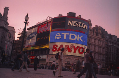 Picadilly Circus. ... June 21, 2001 ... Photo by Rob Page III