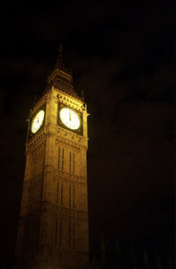 Big Ben at midnite. ... June 21, 2001 ... Photo by Rob Page III