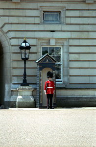 One of the guards at Buckingham Palace. ... June 22, 2001 ... Photo by Rob Page III