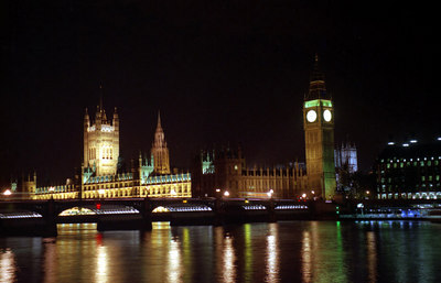 The Houses of Parliament at night. ... June 21, 2001 ... Photo by Rob Page III