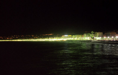 The French Riviera at night - Nice, France. ... July 7, 2001 ... Photo by Rob Page III
