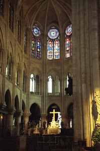 The inside of Notre Dame - Paris, France ... June 23, 2001 ... Photo by Rob Page III