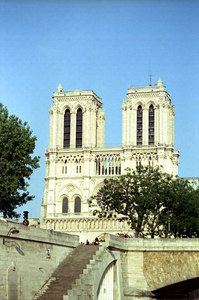 Notre Dame from the Seinne - Paris, France ... June 23, 2001 ... Photo by Rob Page III