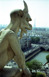 The famous gargoyles of Notre-Dame - Paris, France ... June 23, 2001 ... Photo by Rob Page III