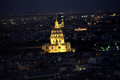 One of the many churches and spires poking up into the Paris night. ... June 23, 2001 ... Photo by Rob Page III