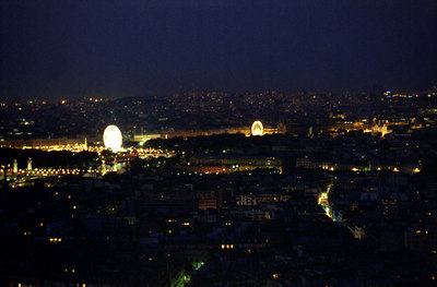 Paris spreads out below the Eiffel Tower. ... June 23, 2001 ... Photo by Rob Page III