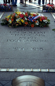 The French Tomb of the Unknown Soldier below the Arc De Triomphe. ... June 23, 2001 ... Photo by Rob Page III