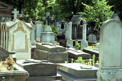 The Père-Lachaise Cemetery. ... June 24, 2001 ... Photo by Rob Page III