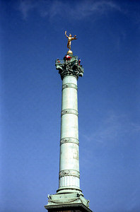 A statue to the Bastille. ... June 25, 2001 ... Photo by Rob Page III