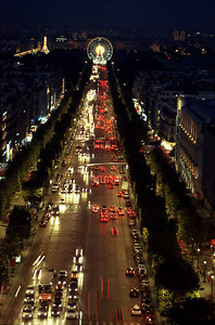 The Champs Elysées from the Arc de Triomphe. ... June 25, 2001 ... Photo by Rob Page III