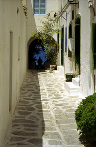 A man looking out to sea - Paros, Greece ... July 19, 2001 ... Photo by Rob Page III