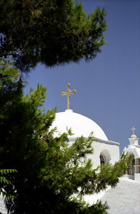 A Greek Church - Paros, Greece ... July 19, 2001 ... Photo by Rob Page III
