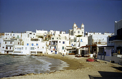 The town of Naoussa - Paros, Greece ... July 19, 2001 ... Photo by Rob Page III