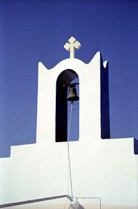 Greek belltower - Paros, Greece ... July 19, 2001 ... Photo by Rob Page III