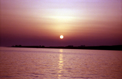 Sunset in Paroikia - Paros, Greece ... July 20, 2001 ... Photo by Rob Page III