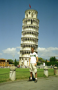 Rob and the Leaning Tower of Pisa - Italy. ... July 11, 2001 ... Photo by Rob Page III