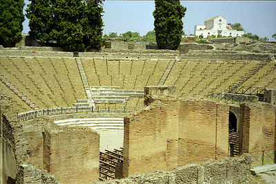 The Large Theatre based on Greek design - Pompeii, Italy ... July 14, 2001 ... Photo by Rob Page III
