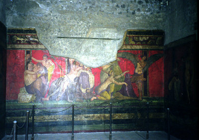 One of the Frescos - Pompeii, Italy ... July 14, 2001 ... Photo by Rob Page III