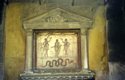 One of the many frescos - Pompeii, Italy ... July 14, 2001 ... Photo by Rob Page III